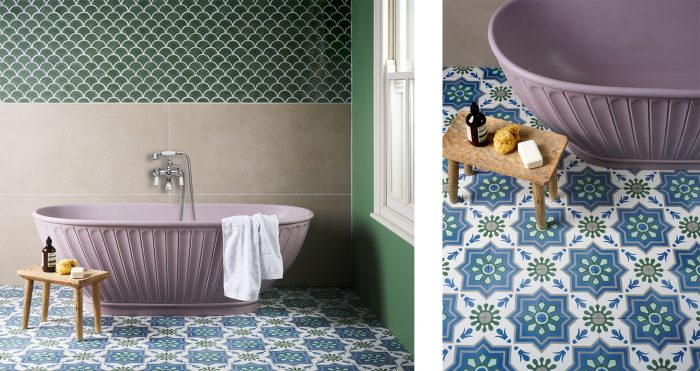 Algarve Encaustic Tiles in bathroom