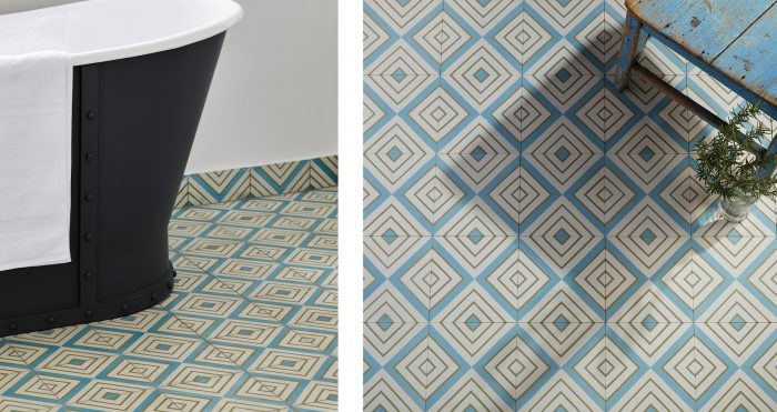 Darcy Encaustic Tiles in bathroom