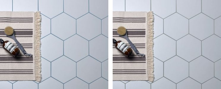 Coloured grout banner