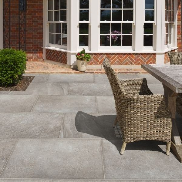 Blenheim Paving Porcelain Smoke