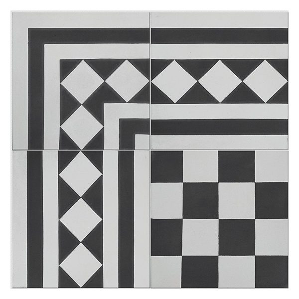 Outlet – Chequer Encaustic Corner
