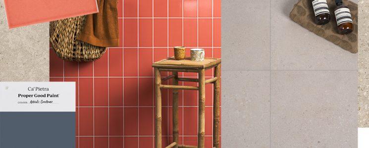 Hampshire Bone x Vintage Crackle Siena plus paint