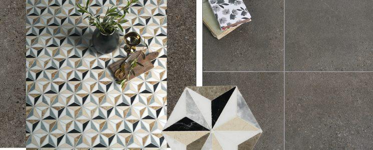 Hampshire Graphite x Istanbul Marble Mosaic