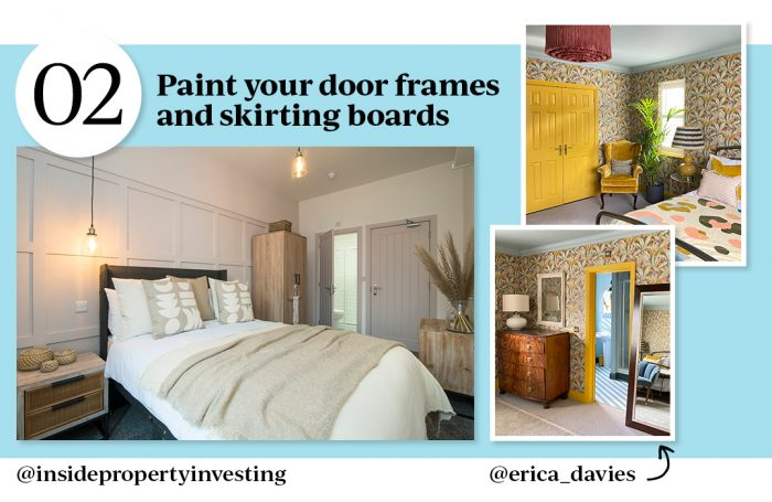 no.2 Paint your door frames and skirting boards