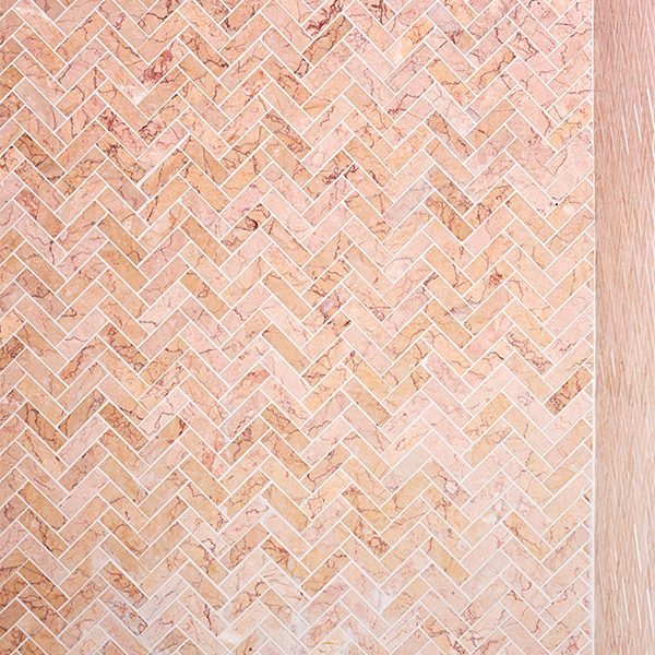 Valentine Marble Honed Herringbone