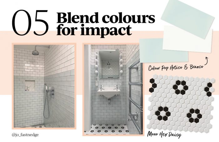 5. Blend colours for impact