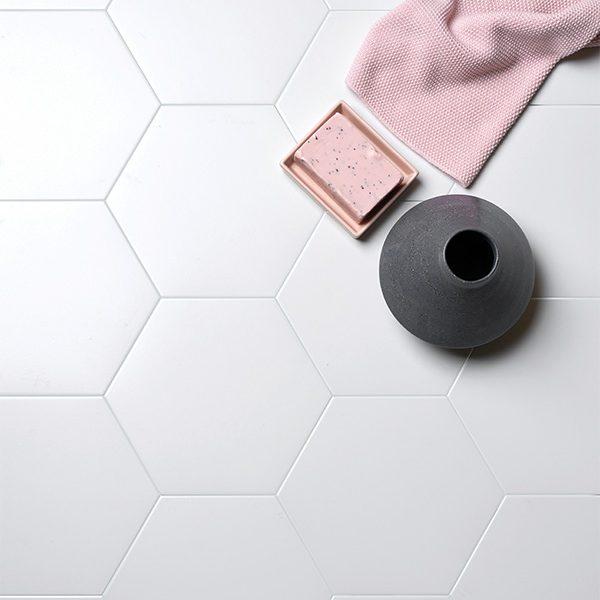 Delicate Porcelain Hexagon