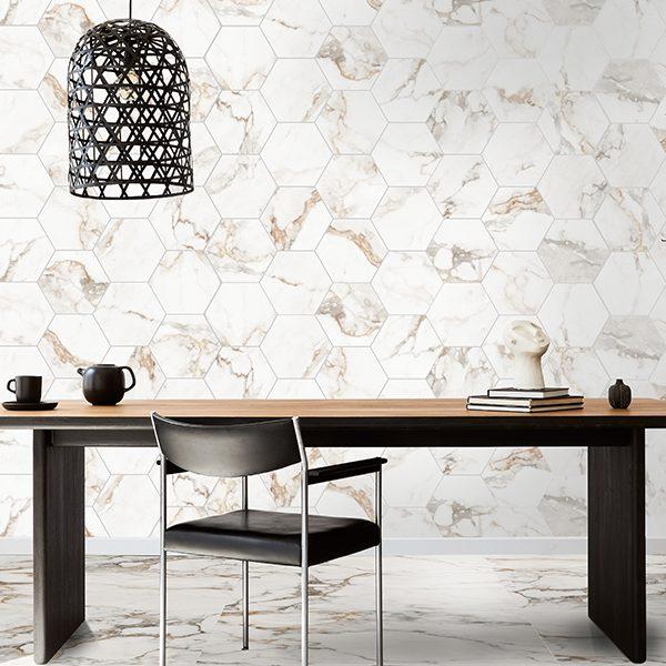 Muscat Porcelain Hexagon